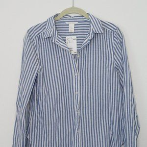 NWT H&M Blue and White Striped Woven Top